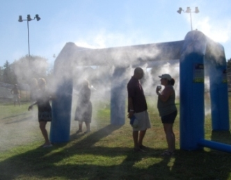 misting inflatable rental