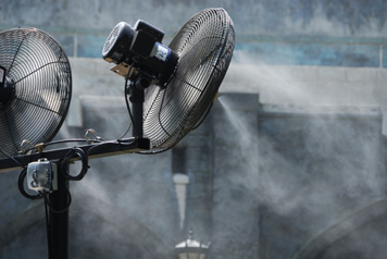 Refreshing Misting Fans Cooling Fan Rentals